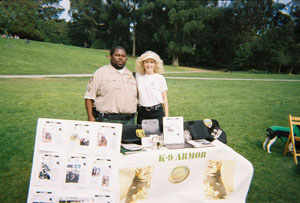 Lt Brown, SF Animal Control and Suzanne Saunders, Co-Founder of K9 Armor
