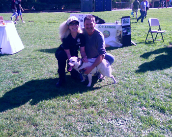 SF Animal COPS Sgt Herndon and Suzanne Saunders Co-Founder of K-9 Armor