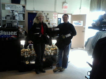 Suzanne Saunders, K-9 Armor Co-Founder, Treasurer and Webdiva thanks Jason Worth, Banner Uniform