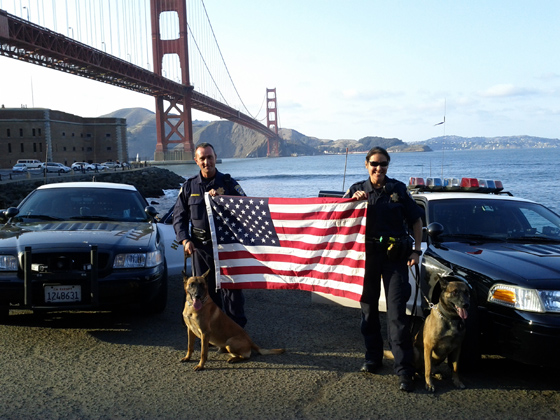 K-9 Armor is proud to protect CHP K9 Becks (pictured left) photo by John Biehler