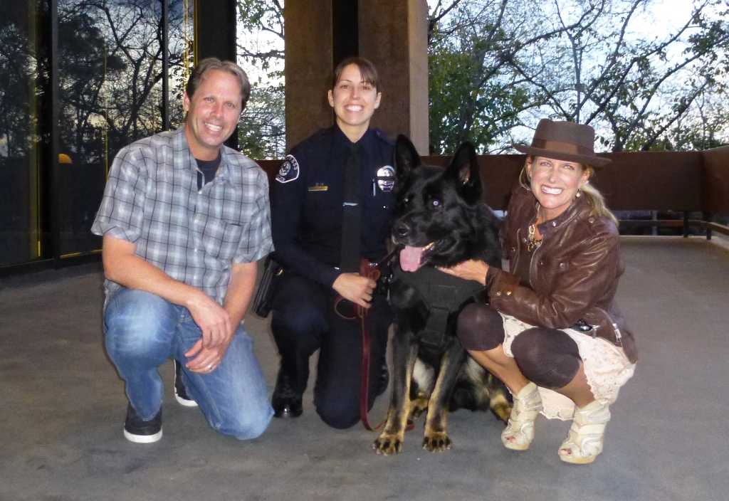 Mike and Krista Pennington donated to protect Cypress PD Officer Mathias for K9 Sem