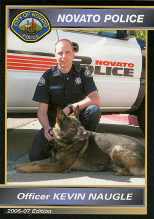 Officer Naugle and Kyto, Novato P.,D.