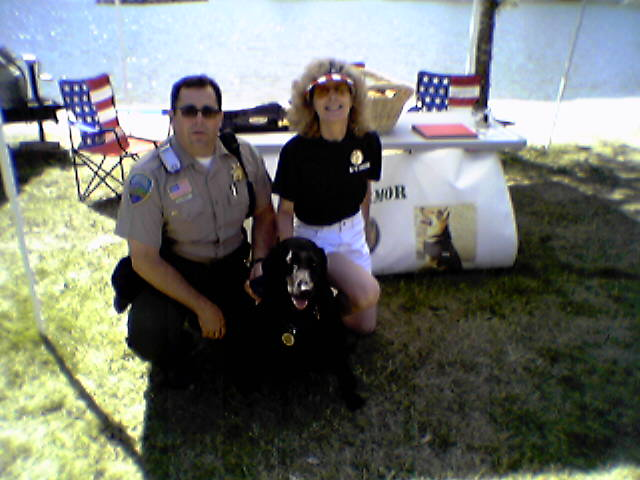 Deputy Marrett and Verona and Suzanne, Marin Fair 2004