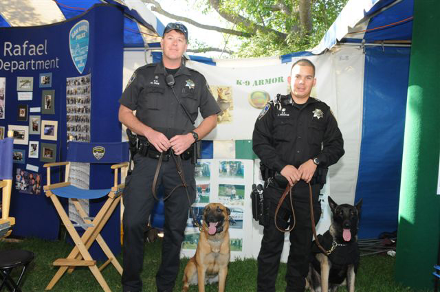 Petaluma PD Officer Page and Rico, Officer Jucutan and Kilo