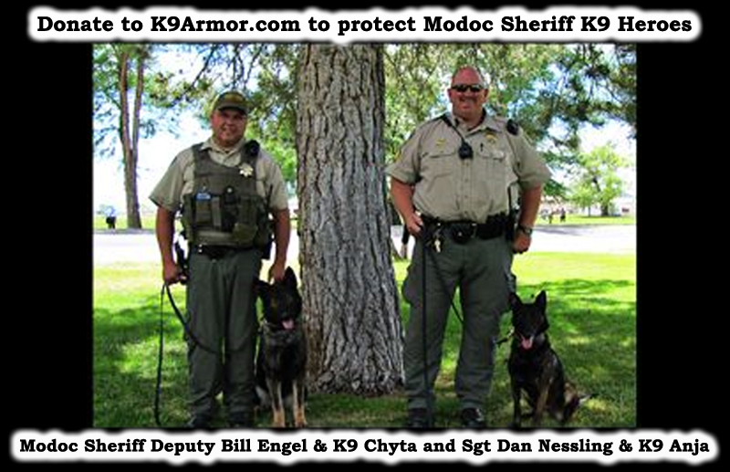 Donate to protect Modoc Sheriff K9 Anja and K9 Chyta (pronounced Cheetah)