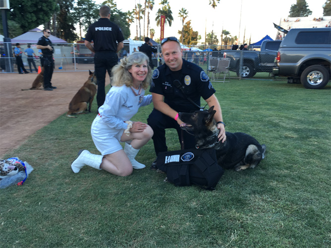Cypress PD Officers McBean with K9 Pasko