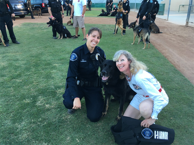 Cypress PD Officers Mondon with K9 Sem