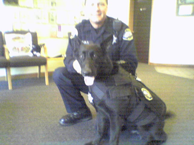 Novato PD Officer Bill Welch and Raven