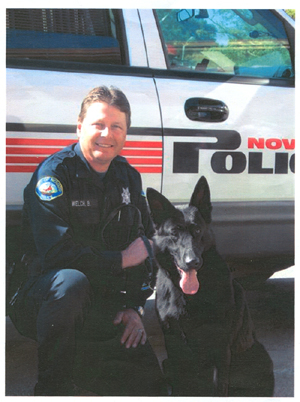 Officer Welch and Raven, Novato PD