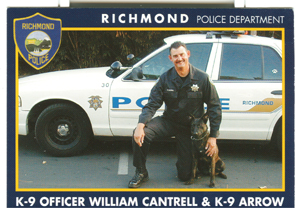 See giant image Officer William Cantrell and Arrow, Richmond PD