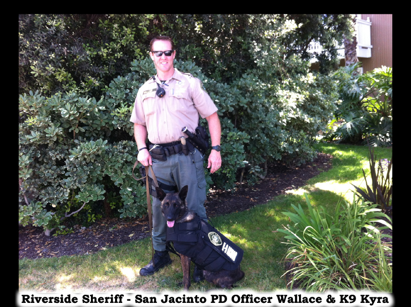 Riverside Sheriff - San Jacinto Police Officer Wallace and K9 Kyra