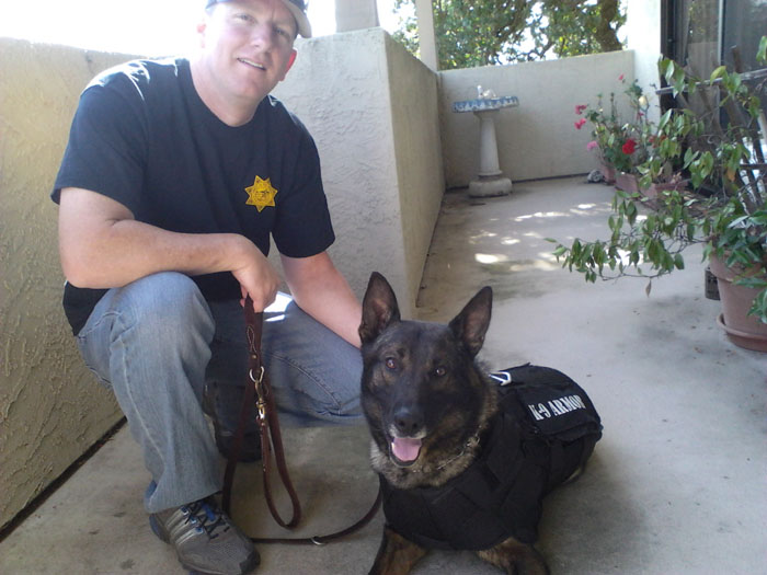 Officer Peterson and St Helena PD K9 Djino