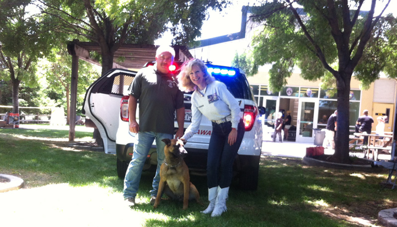 We protected Stanislaus County K9 Dexto and Lycan
