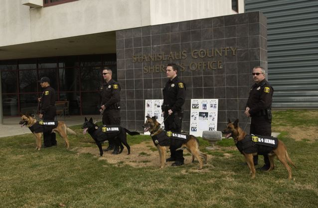 Stanislaus County Sheriff's Dept. K9 Ike, Fons, Rex and Sergo, Jan 27, 2007
