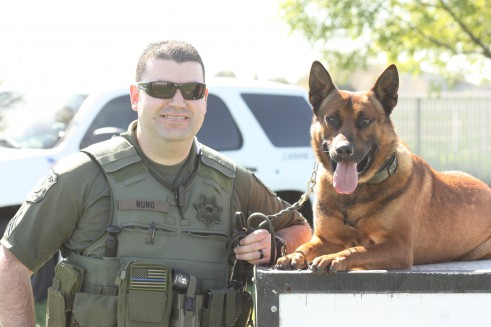 Stanislaus County Sheriff Deputy Nuno and K9 Rex