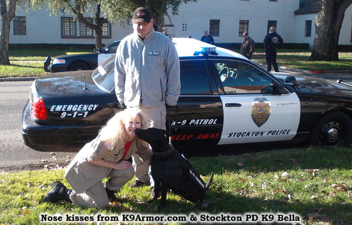 Nose kisses from K9Armor.com & Stockton PD K9 Bella