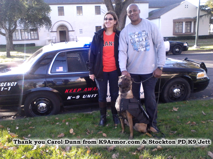 Nose kisses to sponsor Carol Dunn from K9Armor.com and Stockton PD K9  Jett
