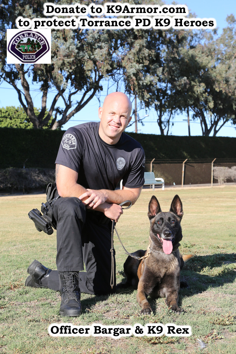 K9 Armor needs donations for Torrance PD K9 Nico. We will cover K9 Nemo.