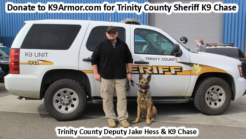 Trinity County Sheriff Deputy Jake Hess and K9 Chase